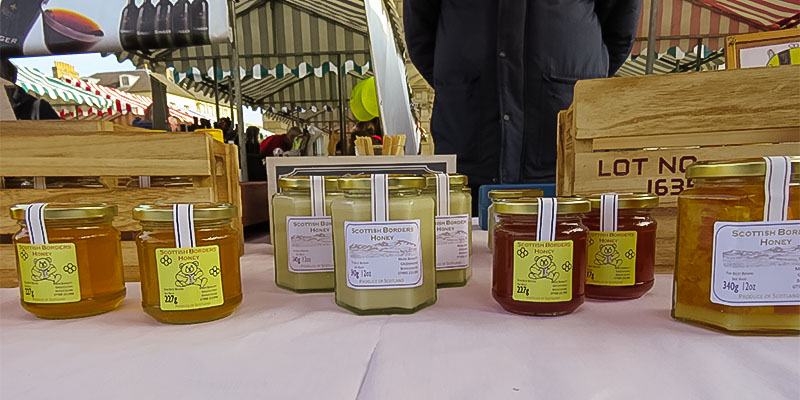 Greenknowe Honey at the Kelso Farmers Market